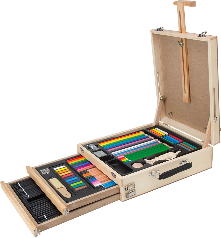 Drawn brain kid Set Holiday kids: Easel for