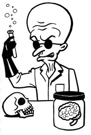 Drawn brain mad scientist 23 scientist By & Education
