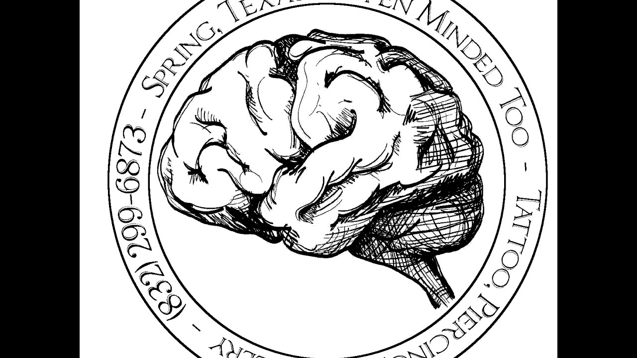 Drawn brain open minded #13