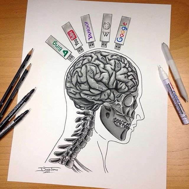 Drawn brain outer view Art Drawing why Instant can