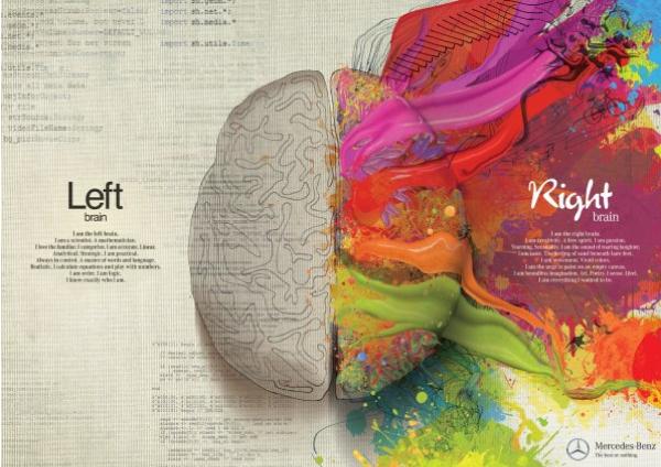 Drawn brain right brain #7
