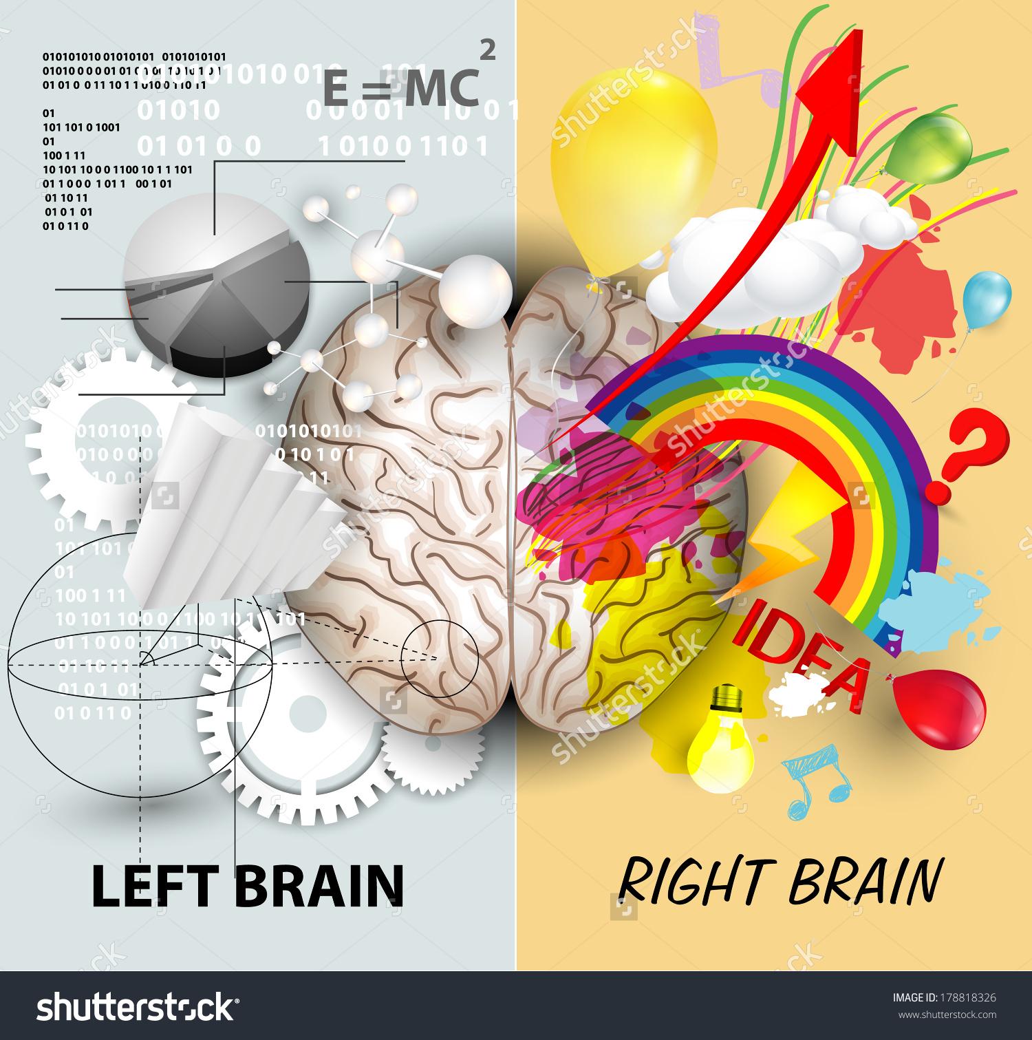 Drawn brain right brain #12