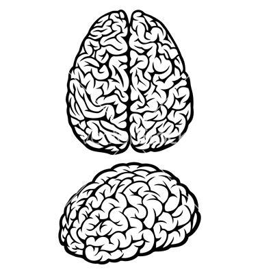 Drawn brain simple #5