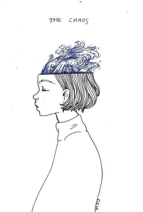 "Drawn brain simple  15 19 ""the calm""mind's"