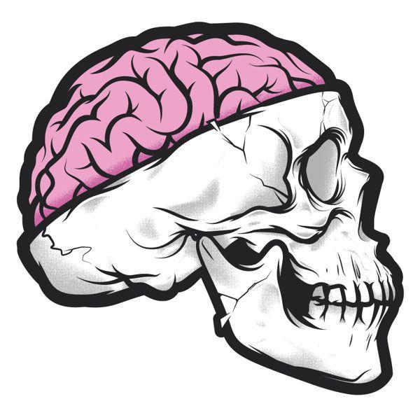 Drawn brain skull #6