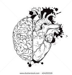 Drawn brain wing #3