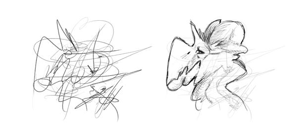 Drawn brain wing #8