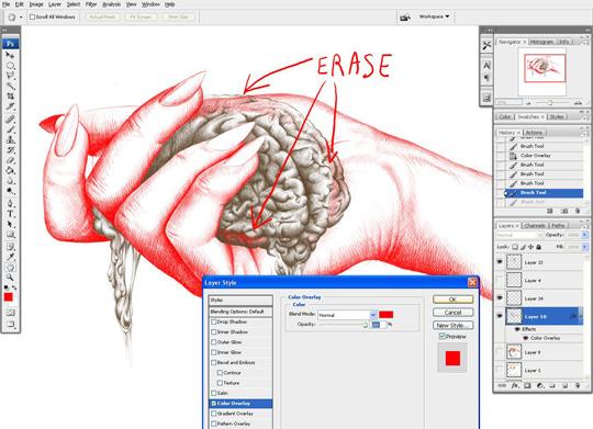 Drawn brain wing #11