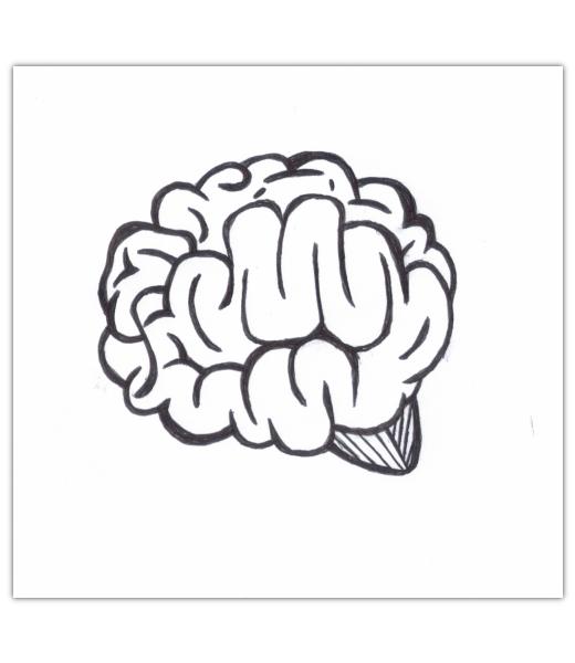 Drawn brain simple Brains tutorials Gimp 1