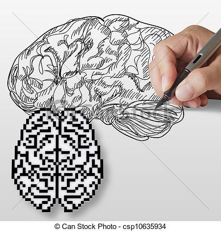 Drawn brain art #5