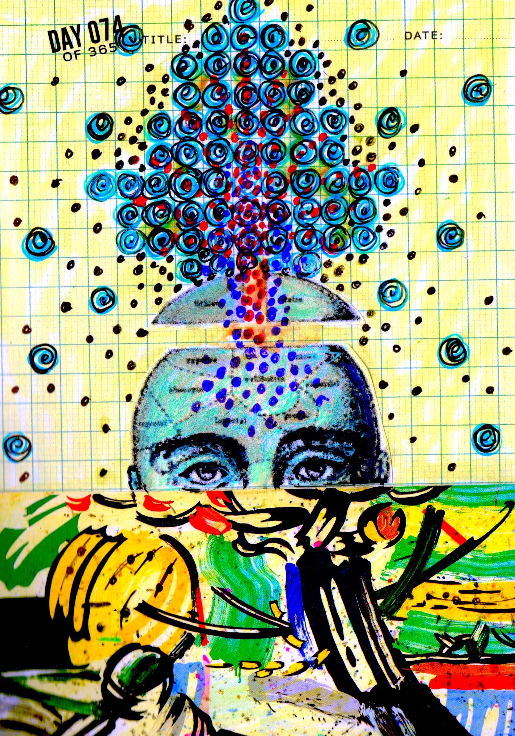 Drawn brain art #6