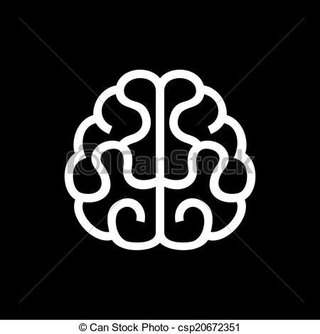 Drawn brains clipart background Black csp20672351  Brain Vector
