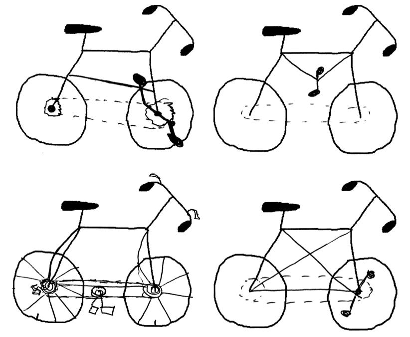 Drawn bike bicycle Bikes Cycology: draw Dave Four