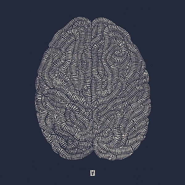 Drawn brain art #2