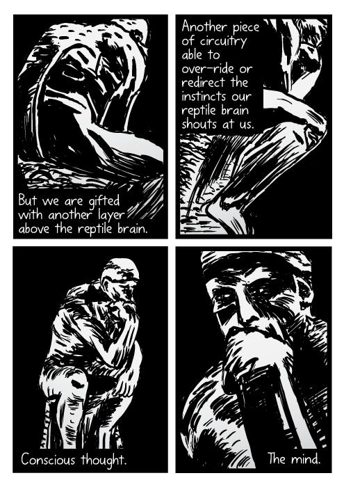 Drawn brains comic Di Disegno supernormal Rodin brain
