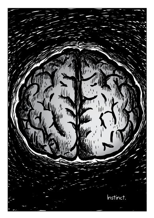 Drawn brain comic Brain cervello Stimuli una McMillen