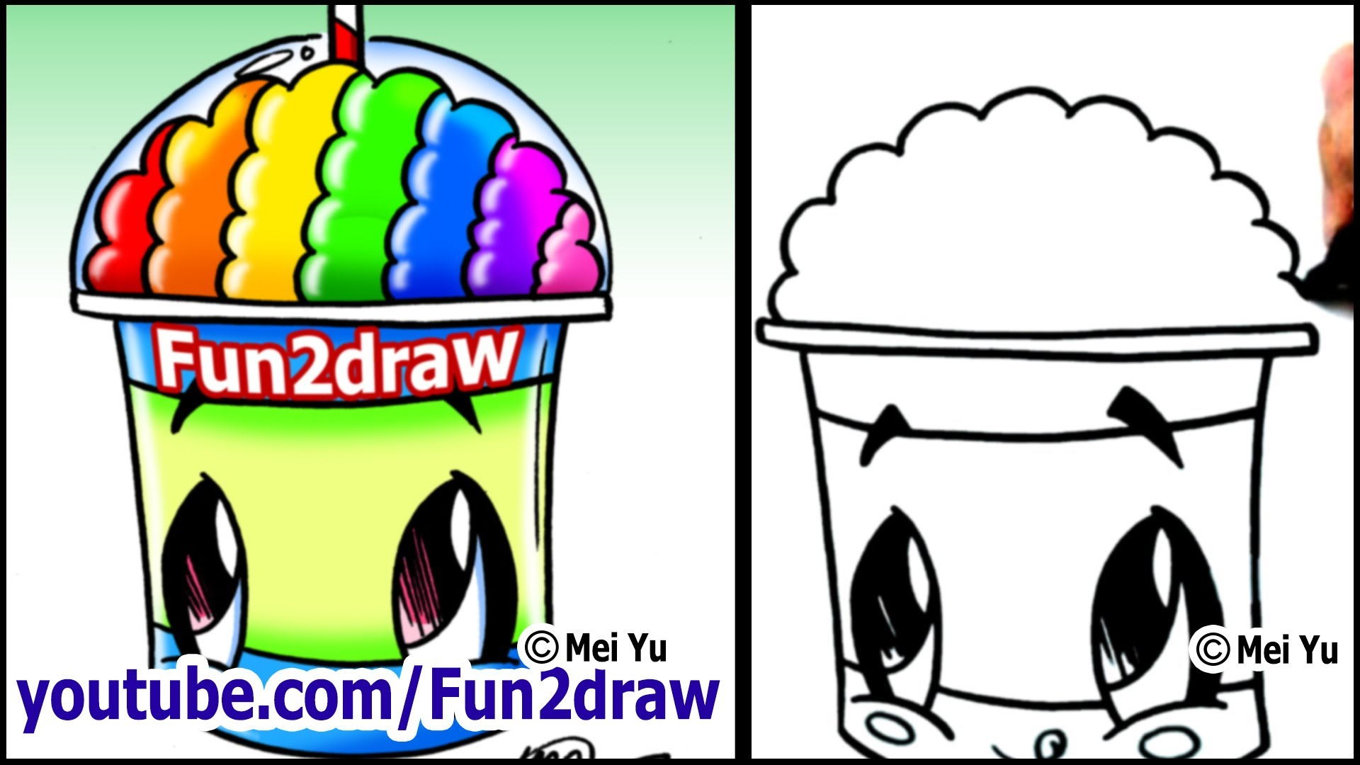 Drawn rainbow vector black and white Rainbow Cartoon a BRAIN??? YouTube
