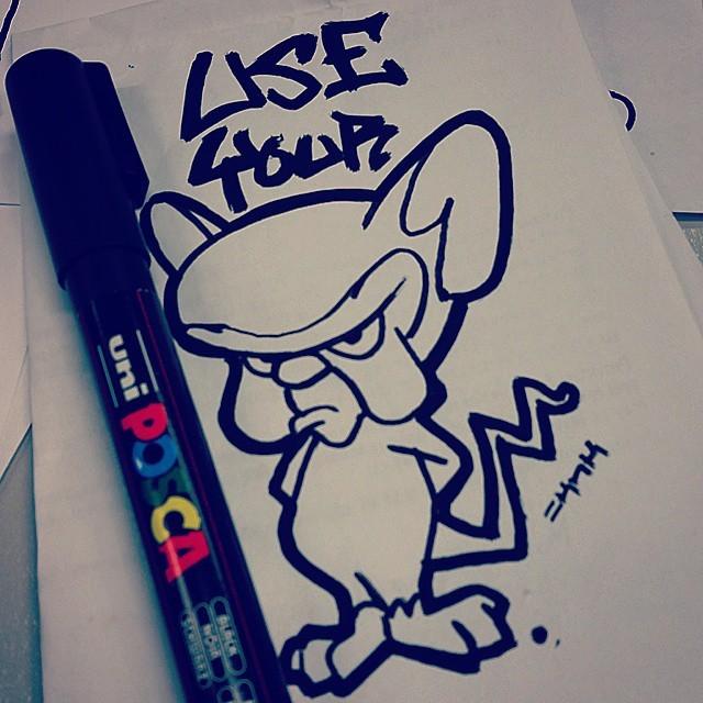 Drawn brains graffiti #thebrain #quote #mice #quote #pinkyandthebrain