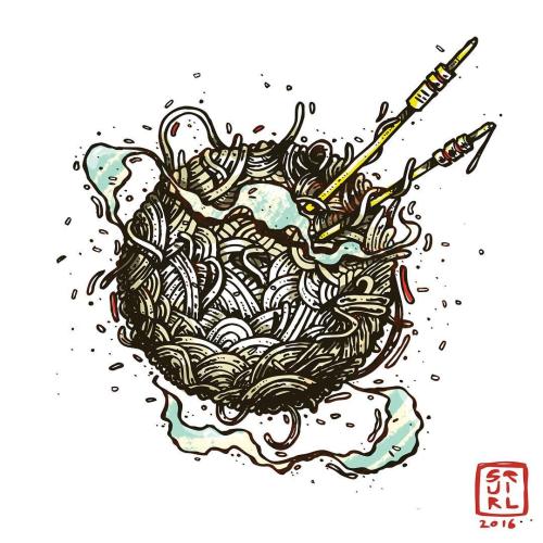 Drawn brains graffiti ART #illustrator t Use noodle