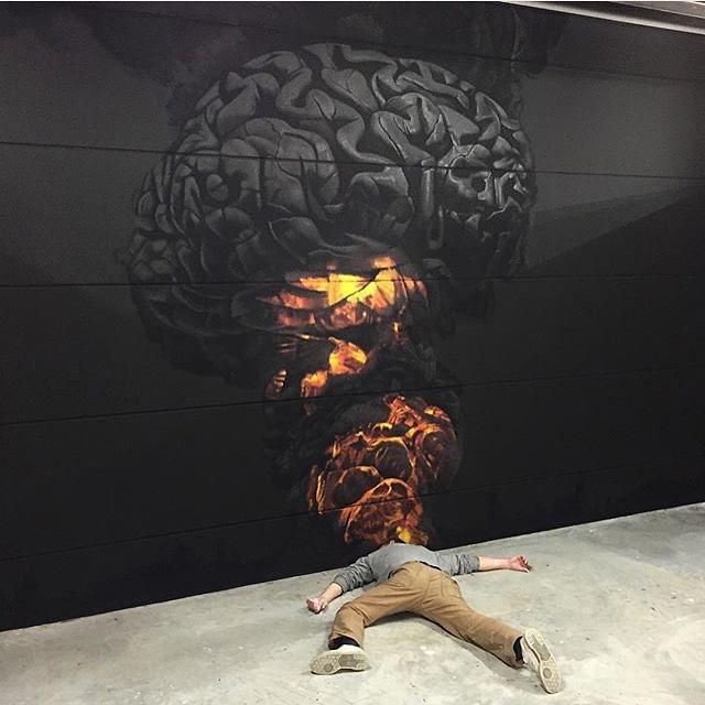Drawn brains graffiti High WizuS —  Art