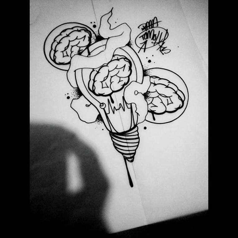 Drawn brains graffiti #art #tattoo Graff flashed
