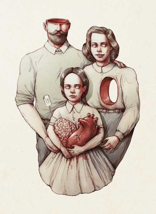 Drawn brains heart brain Your You and mother's have