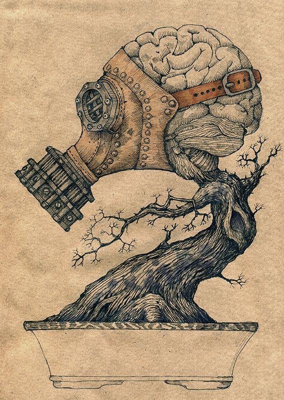 Drawn brain art #9