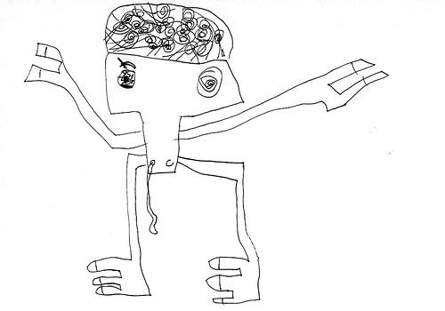Drawn brain kid Creepy Kids SMOSH 19 Weasel