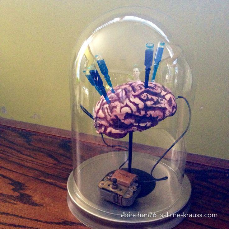 Drawn brain mad scientist Brain Super jar dome Parties: