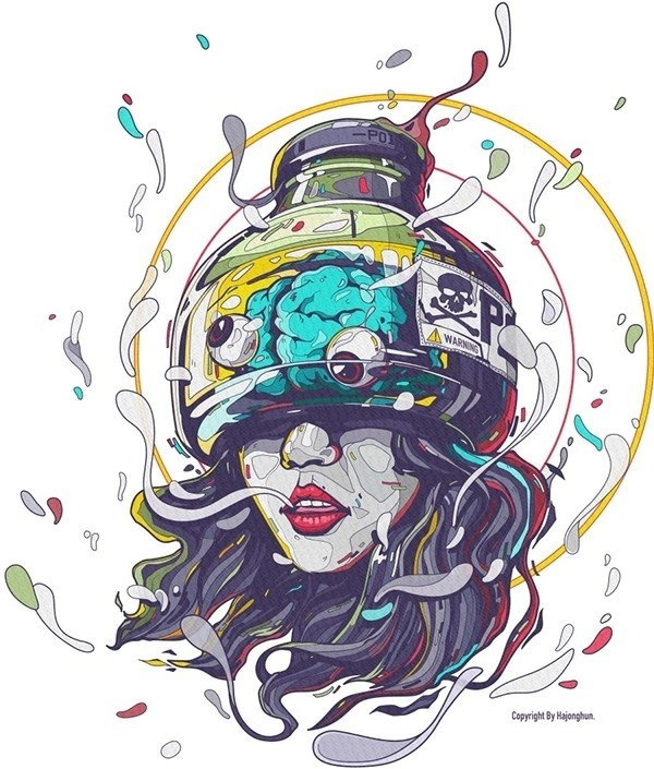 Drawn brain mad scientist Girl #art on Discover Behance