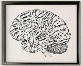 Drawn brains neuroscience Art Art Decor (Structure Feeling