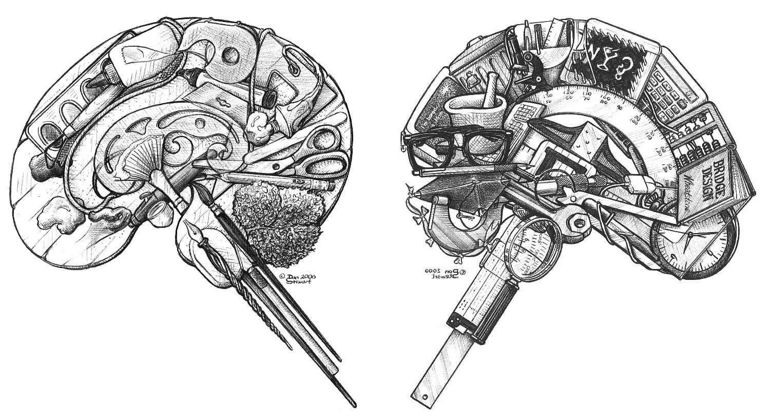Drawn brain art #11