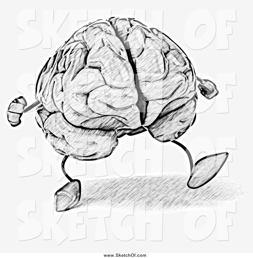 Drawn brains sketched Drawing a of Sketched Walking
