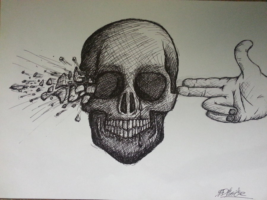 Drawn brains skull On (Better Blow out your