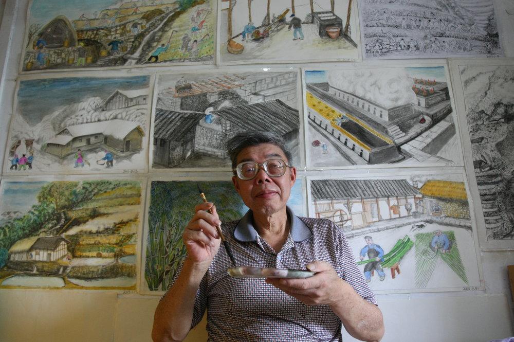 Drawn brains student Side Zhu Zhang on the