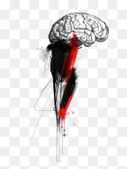 Drawn brain wing #9