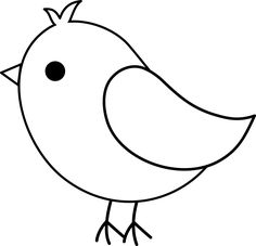 Drawn brds baby bird Blue Art Birds Colorable Drawing