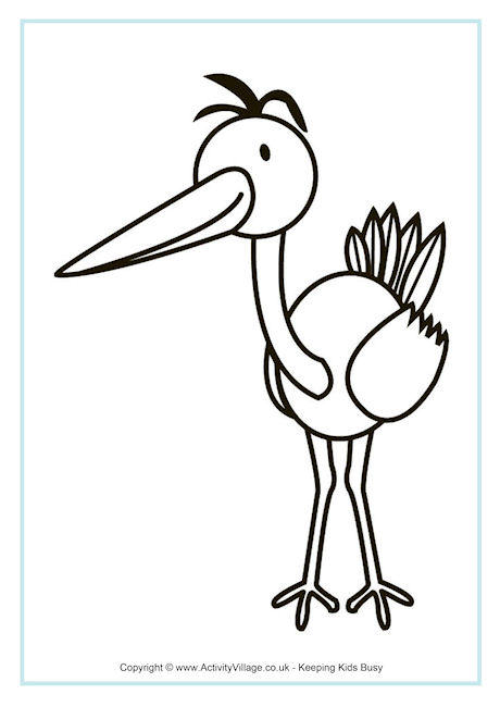 Drawn brds coloring page Page Crane for Pages Printable