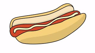 Drawn bread animated Dog hand & Library Animated