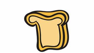 Drawn bread animated Illustration transparent bag bread drawn