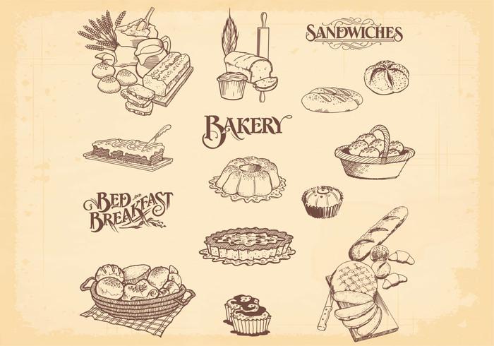 Drawn bread bakery Photoshop Bakery Bread Bakery Brushes