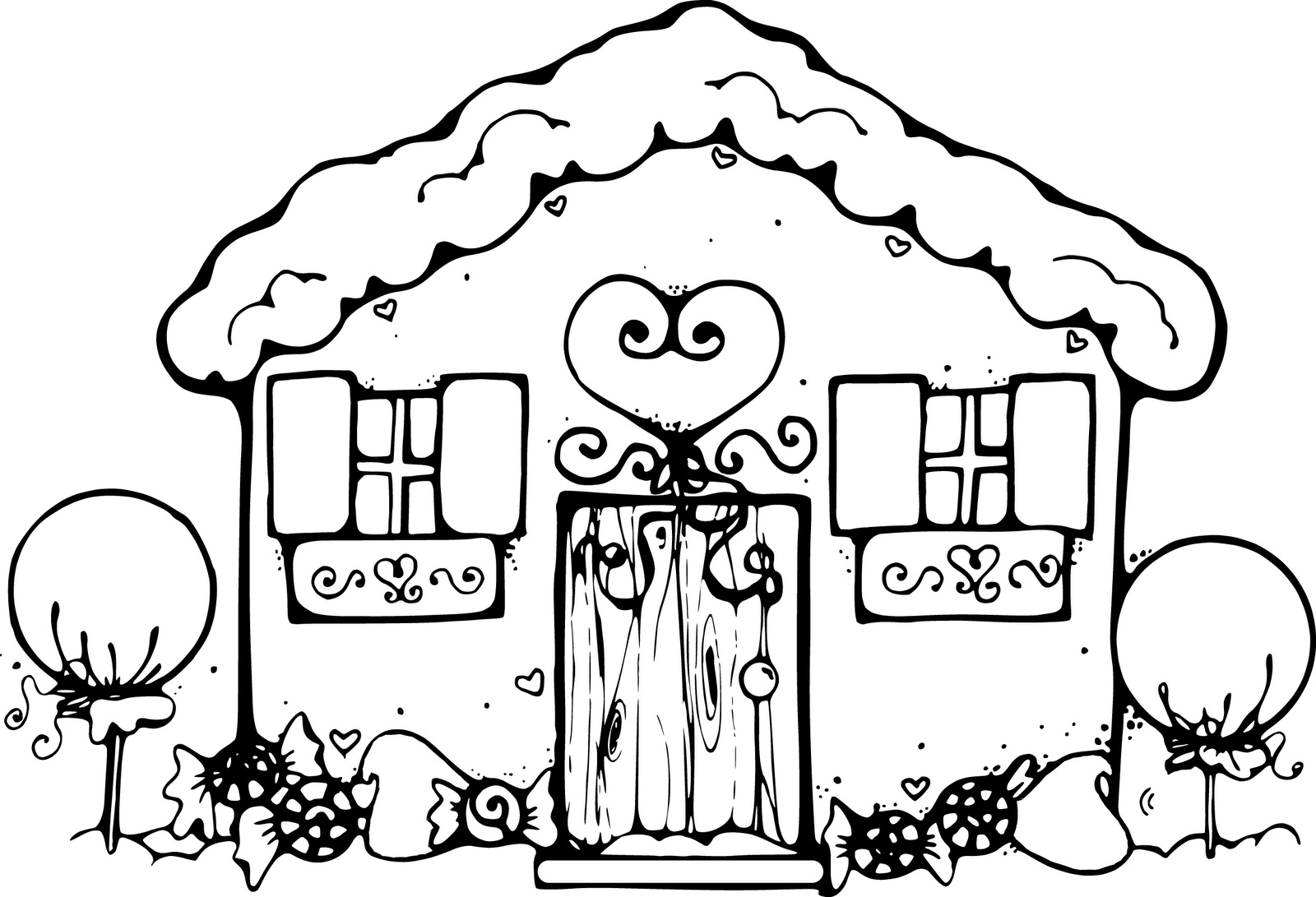 Scenery clipart cute house #13