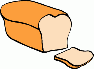 Drawn bread loaf bread Facing Of Loaf Of bread