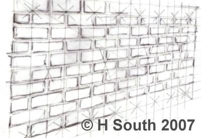 Drawn brick Brick Drawing Wall brick in