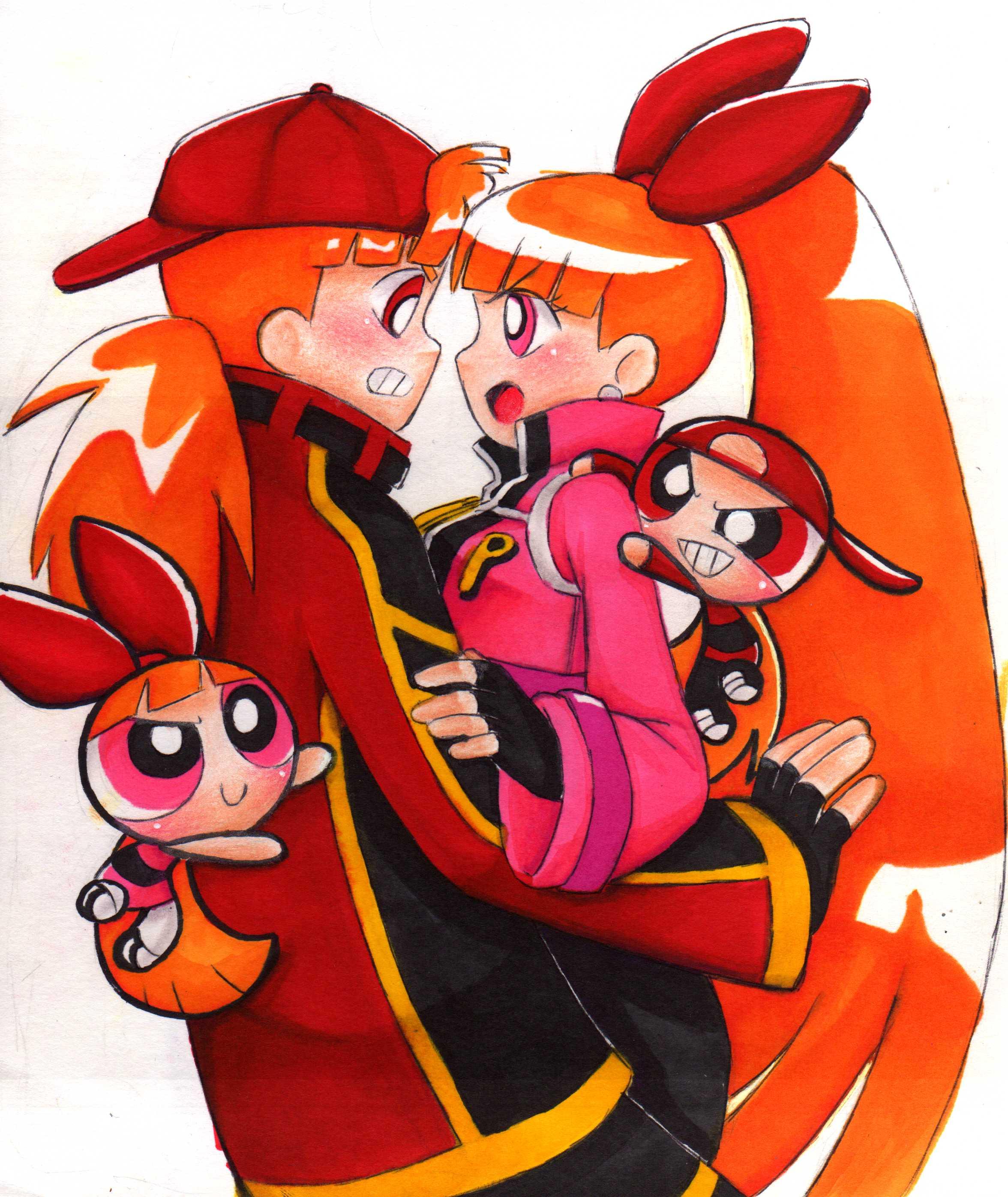 Drawn brick anime  in in Bubbles Brick