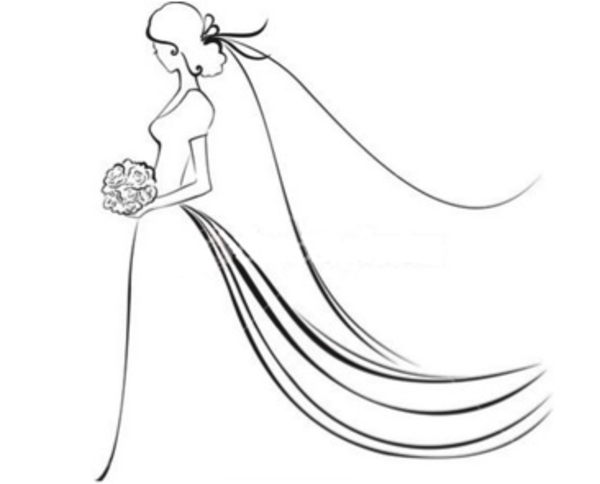 Drawn bride  vector at image Free