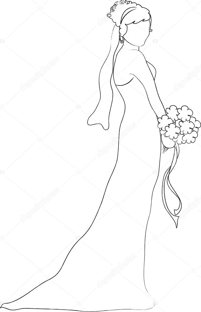 Drawn bride Bride Profile  of Clipart