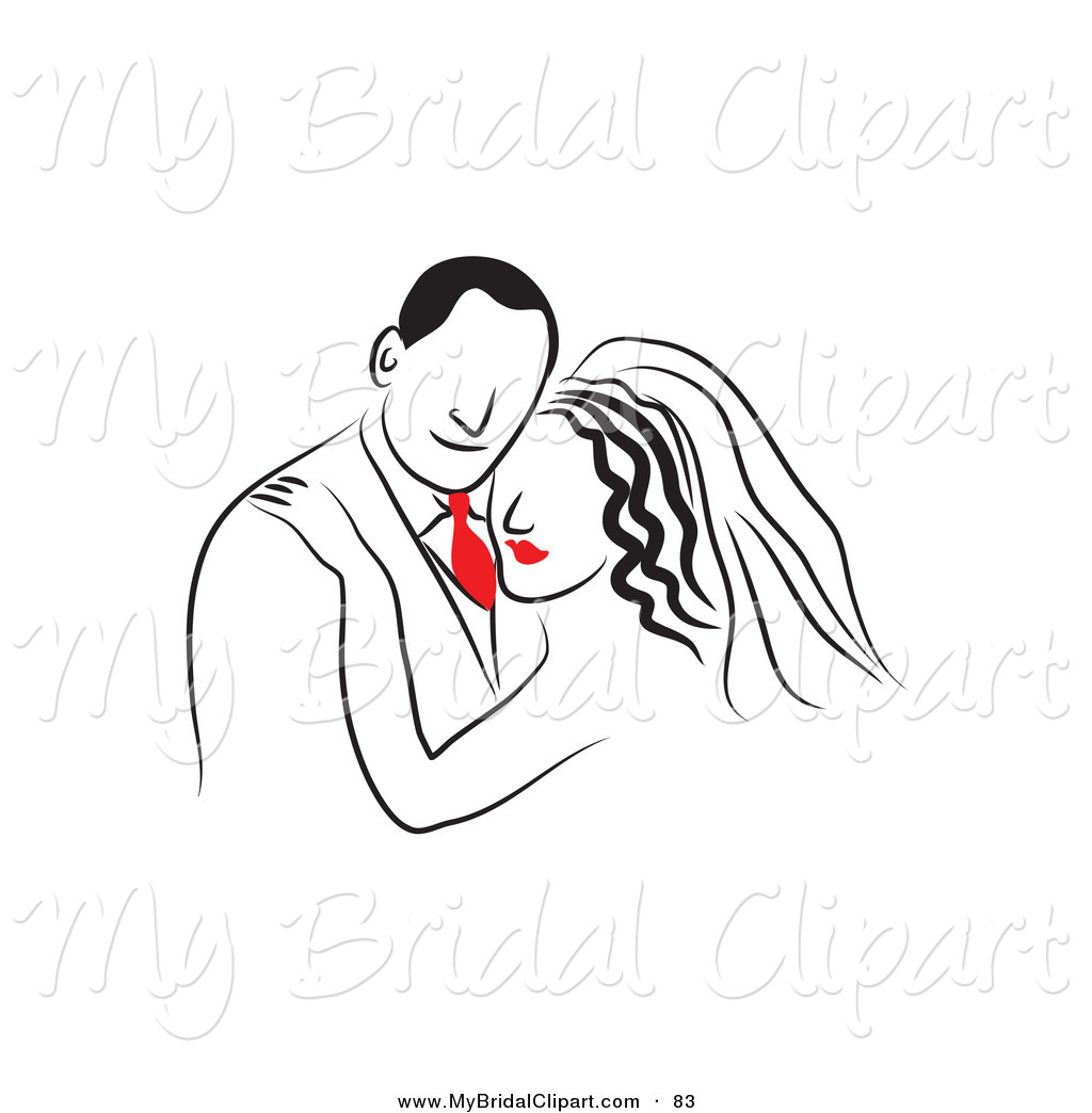 Drawn bride bridal Clipart Tie Red a with