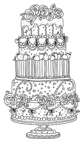 Wedding Cake clipart color Peaches drawings cake: 25+ Japanese
