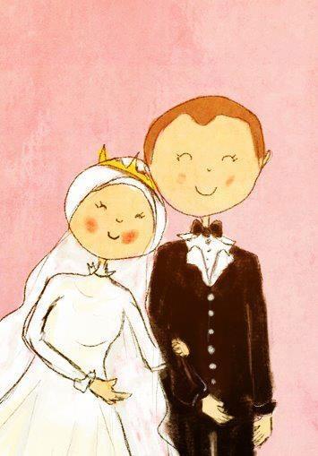 Drawn bride cute couple Google CouplesA Pinterest heart Cartoon